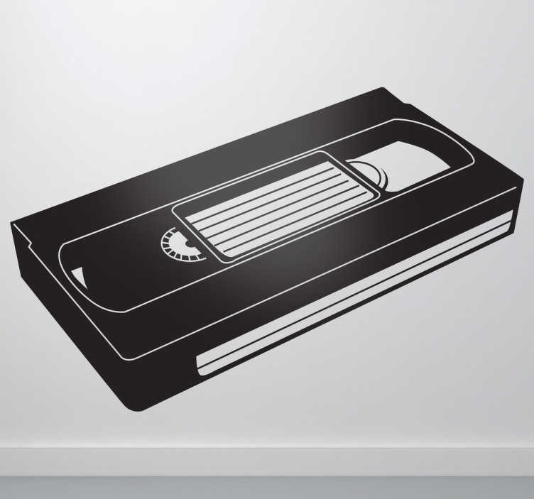 TenStickers. VHS Tape Wall Sticker. Room Stickers -  The classic old VH1 cassette. TV & movie decals great for fans.