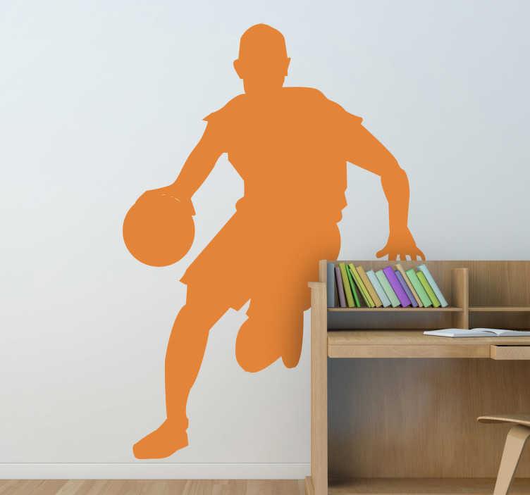 Adesivo murale silhouette gioco basket