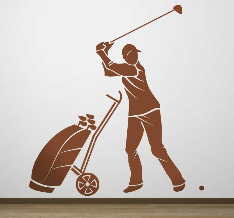 Naklejka profesjonalny golfista