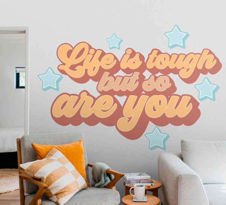 Muurdecoratie Stickers Het Leven Is Hard Tenstickers