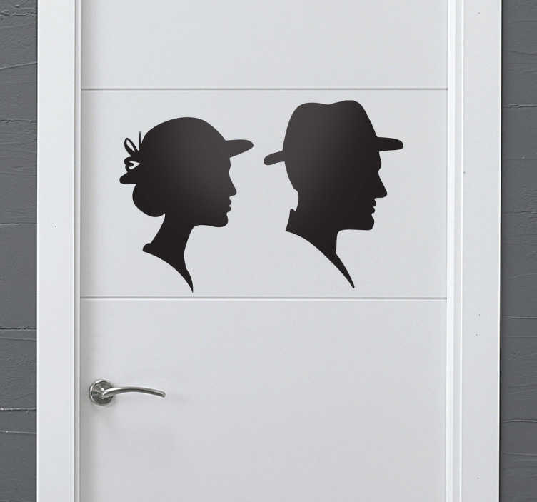 TenStickers. Silhouette Man and Woman Toilet Sticker. Make your services visible and obvious with this stylish sticker of two silhouettes.
