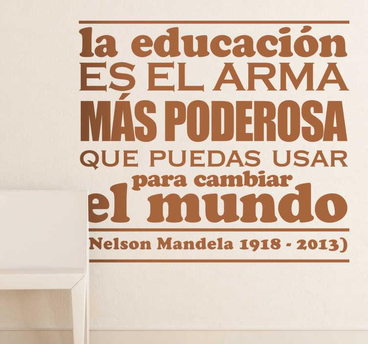 TenVinilo. Vinilo decorativo Nelson Mandela. Parte de un famoso discurso pronunciado por el desaparecido líder surafricano en adhesivo.