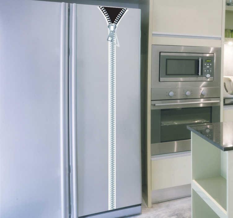 Sticker decorativo cerniera per frigo