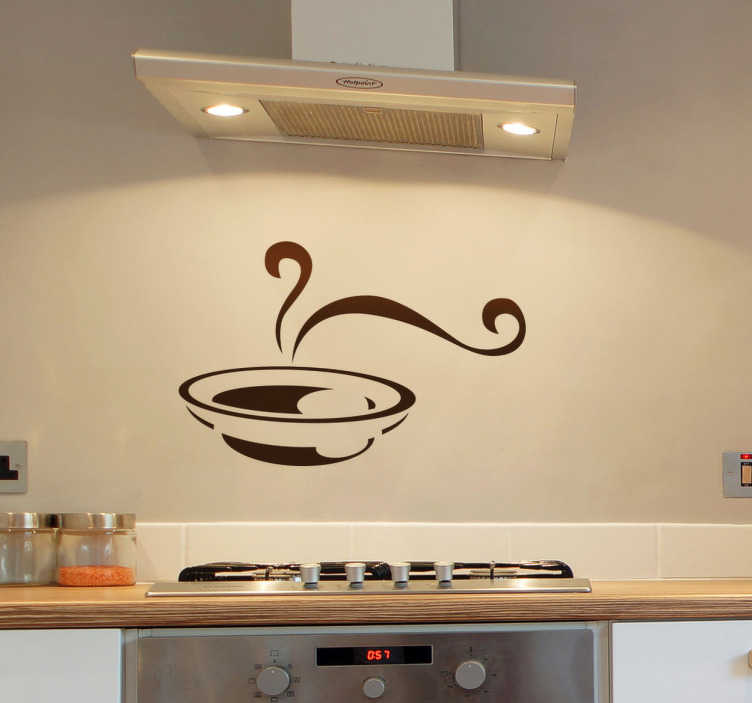 TenStickers. Hot Soup Wall Sticker. Kitchen Stickers - Hot soup design. Decorate your kitchen cupboards or walls with this wall decal.