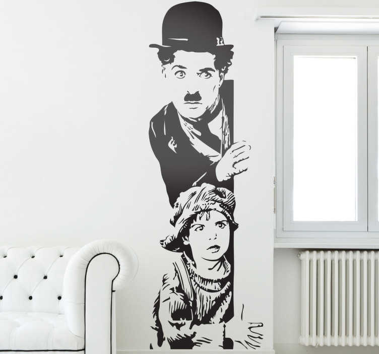 Sticker feux de la rampe chaplin tenstickers for Stickers de pared