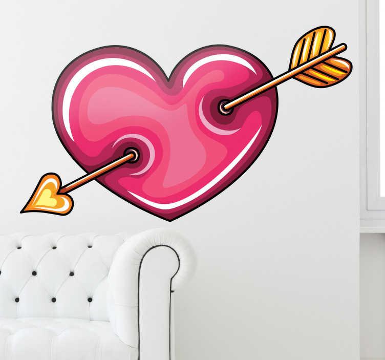 Sticker decorativo cuore di Cupido