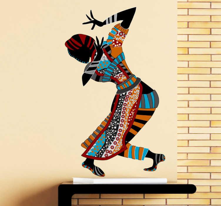 TenStickers. Autocollant mural danse ethnique. Sélectionnez les dimensions de votre choix pour personnaliser le stickers à votre convenance.Jolie idée déco pour les murs de votre intérieur de façon simple et élégante.