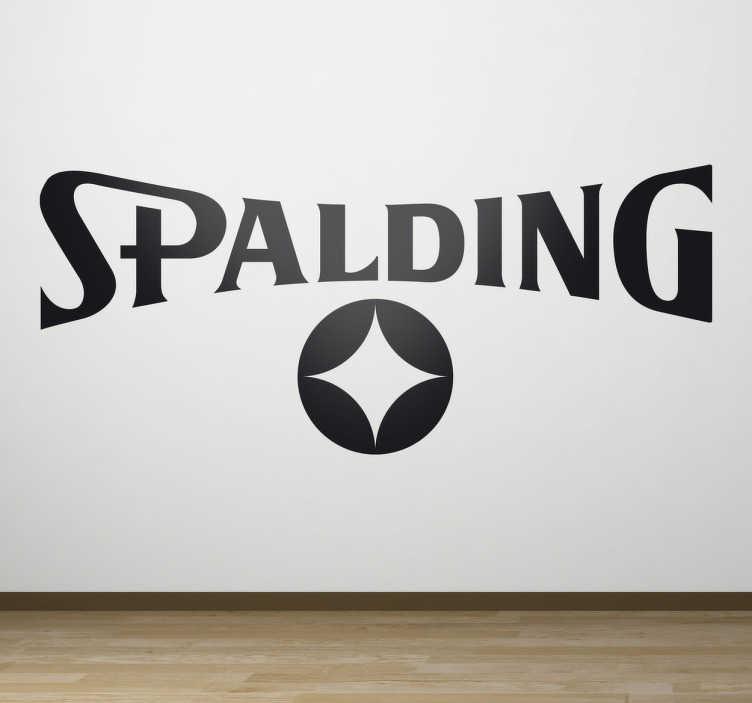 TenStickers. Sticker logo Spalding. Stickers décoratif représentant le logo Spalding, marque de fourniture sportive reconnue pour la qualité de ses ballons de basket.Sélectionnez les dimensions de votre choix pour personnaliser le stickers à votre convenance.
