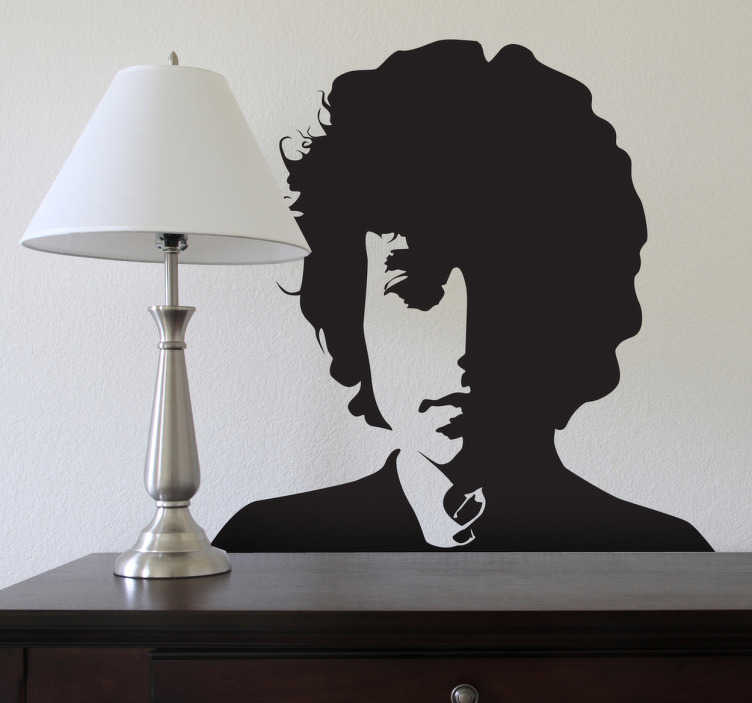 Sticker mural portrait Bob Dylan