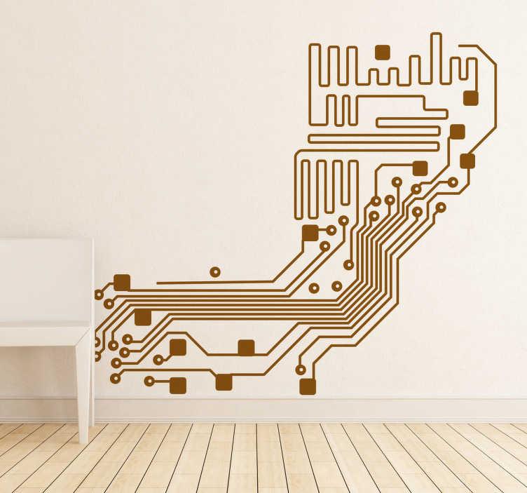 TenVinilo. Adhesivo decorativo circuito electrónico. Si eres aficionado o profesional del mundo de la electrónica y los ordenadores este vinilo está hecho para ti.