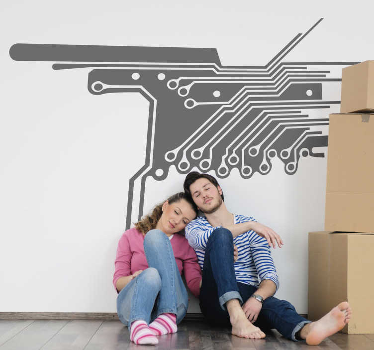 TenStickers. Electronic Circuit Wall Sticker. A fantastic design of an electronic circuit. This electronic circuit sticker is ideal for those that love engineering and want some wall decoration!