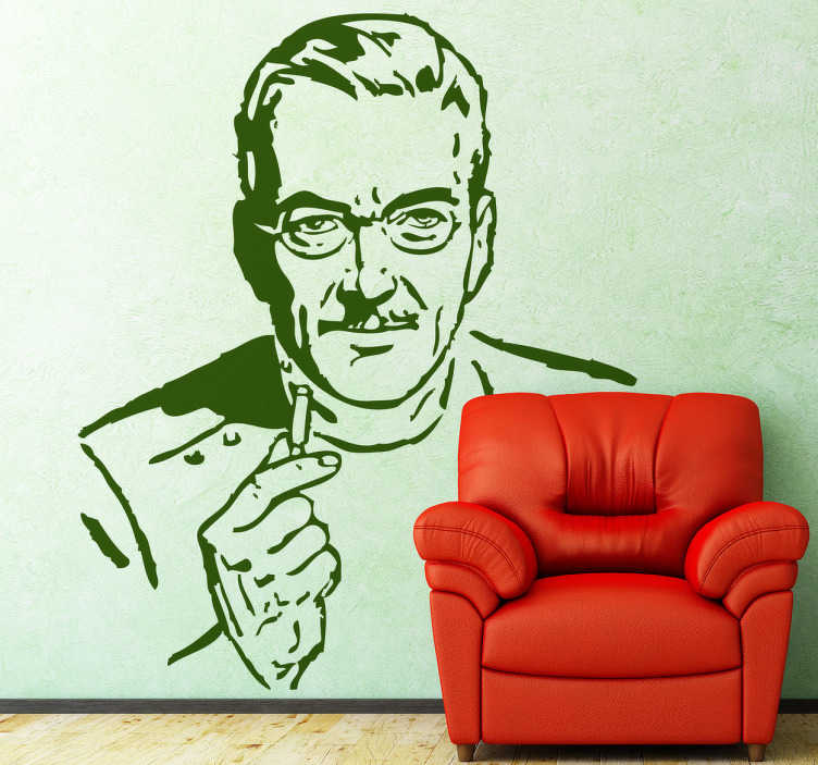 TenStickers. Vintage Doctor Wall Sticker. Wall Stickers - Illustration of a mature doctor. Ideal for health care businesses.