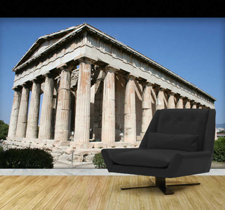 TenStickers. Akropolis Aufkleber. Reisen Sie gerne nach Griechenland und mögen Sie die Antike? Verzieren Sie die Wand in Ihrem Zuhause mit dieser Akropolis Fototapete.