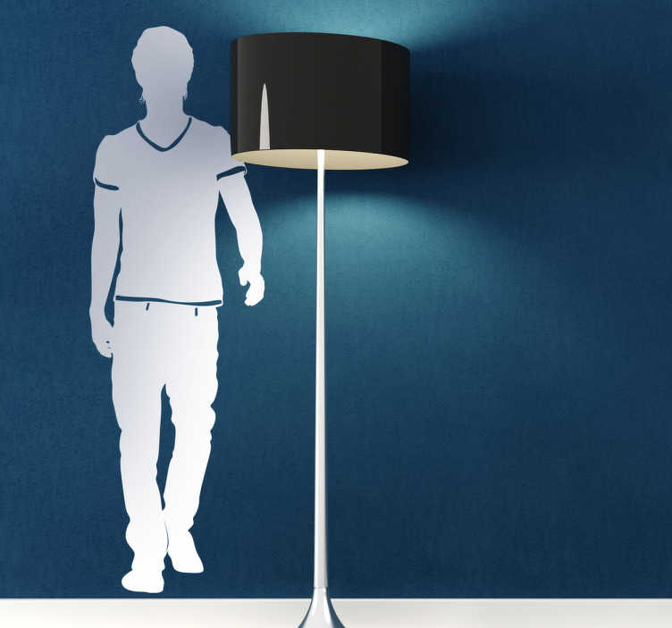 TenStickers. Guy Silhouette Sticker. Sticker demonstrating a silhouette of a man walking. Choose a size that suits you and decorate your wall with simplicity and elegance.