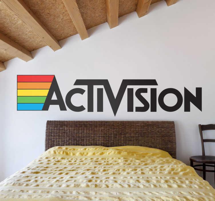 TenVinilo. Vinilo decorativo Activision logo. Logotipo en adhesivo de esta clásica marca de videojuegos de los años ochenta.