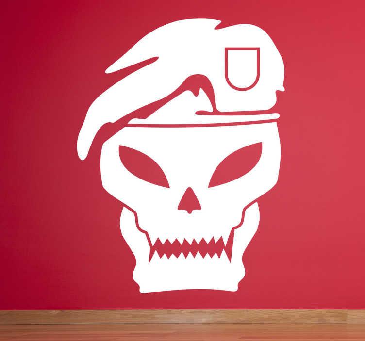 TenStickers. Naklejka dekoracyjna Call of Duty. Winylowa naklejka z gry Call of Duty game, Black Ops! Monochromatyczna ozdoba, której kolor i rozmiar możesz dopasować według swoich potrzeb.