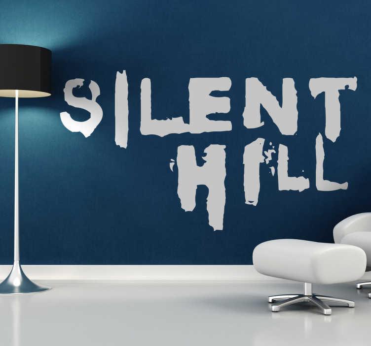 TenVinilo. Vinilo decorativo Silent Hill. Logotipo en adhesivo de este reconocido y premiado videojuego de terror e intriga.