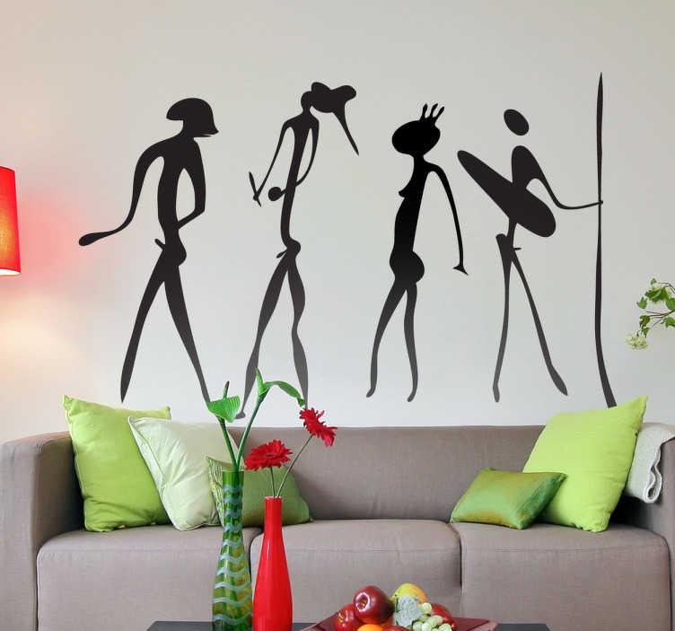 TenStickers. Urzeitliche Menschen Aufkleber. Diese Wandtattoo Figuren bringen Geschichte in Ihr Zuhause und machen Ihre Wand zu einem echten Hingucker!