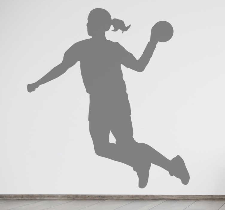 Handball Player Silhouette Decal