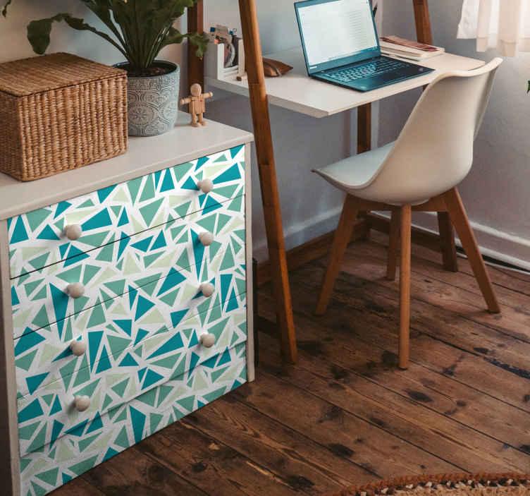 TenStickers. Sticker muur mozaïek. Personaliseer uw wanden met deze muursticker door deze te decoreren met deze leuke en vrolijke muurstickers.