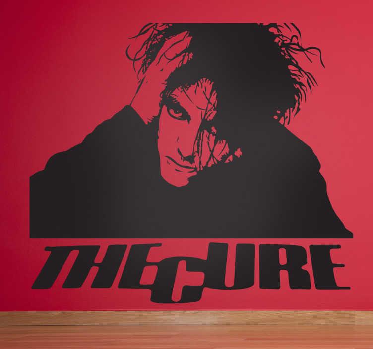 TenStickers. Sticker mural The Cure. Stickers mural représentant le logo du groupe de rock britannique mené par Robert Smith.Personnalisez et adaptez le stickers à votre surface en sélectionnant les dimensions de votre choix.
