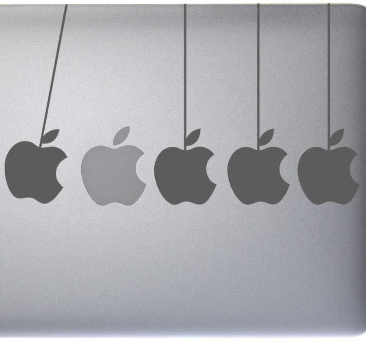 TenVinilo. Vinilo decorativo manzanas para Mac. Una pegatina decorativa que dará carácter y personalidad a tu laptop de forma exclusiva y original para que todos los compañeros que lo observen queden alucinados.