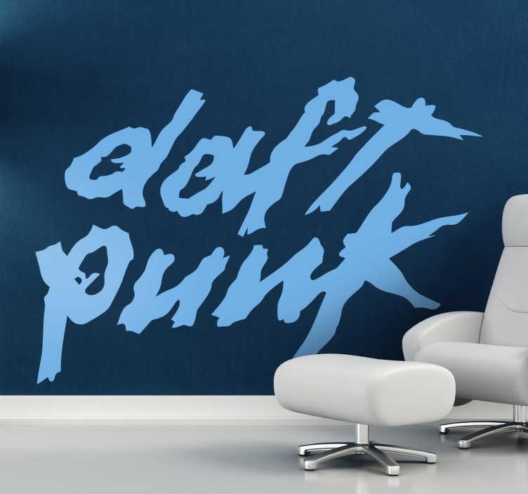 TenStickers. Sticker logo Daft Punk. Een leuke muursticker voor de fans van dit bekende duo uit de electronische muziek scene, Daft Punk.