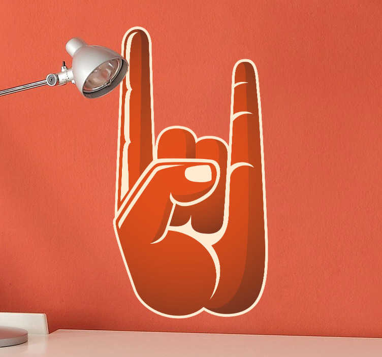 Sticker decorativo mano rock