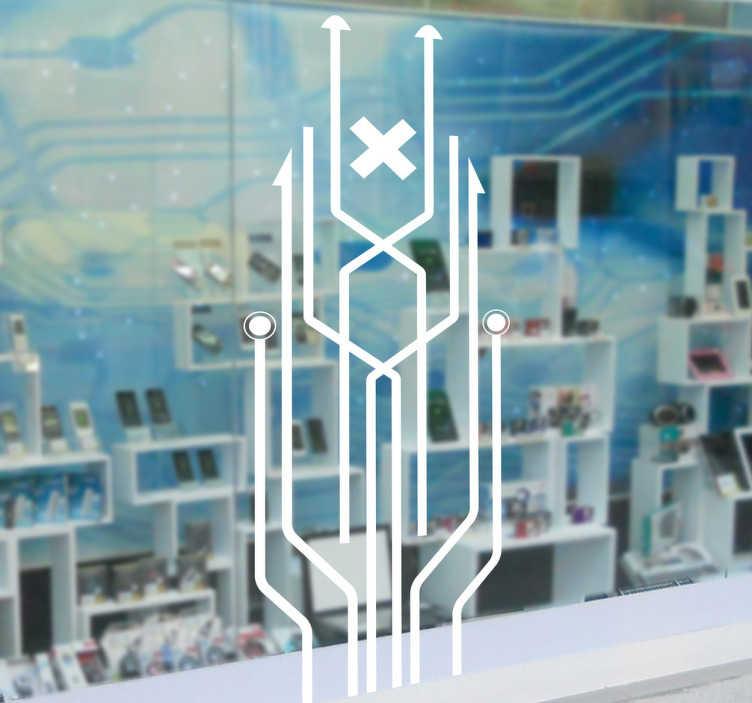Sticker decorativo cornice circuiti