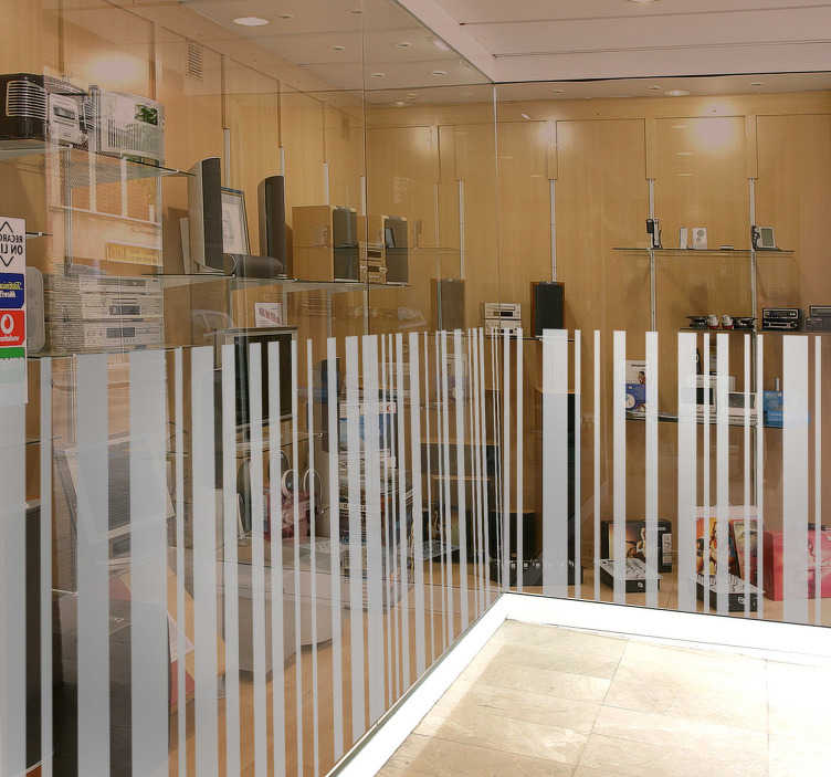 TENSTICKERS. バーコードウォールデカール. ラインステッカーのコレクションからあなたの家やビジネスのためのこのバーコードの壁のステッカーが来る。あなたの店に装飾を加えるようにビジネスの壁のステッカーとして理想的