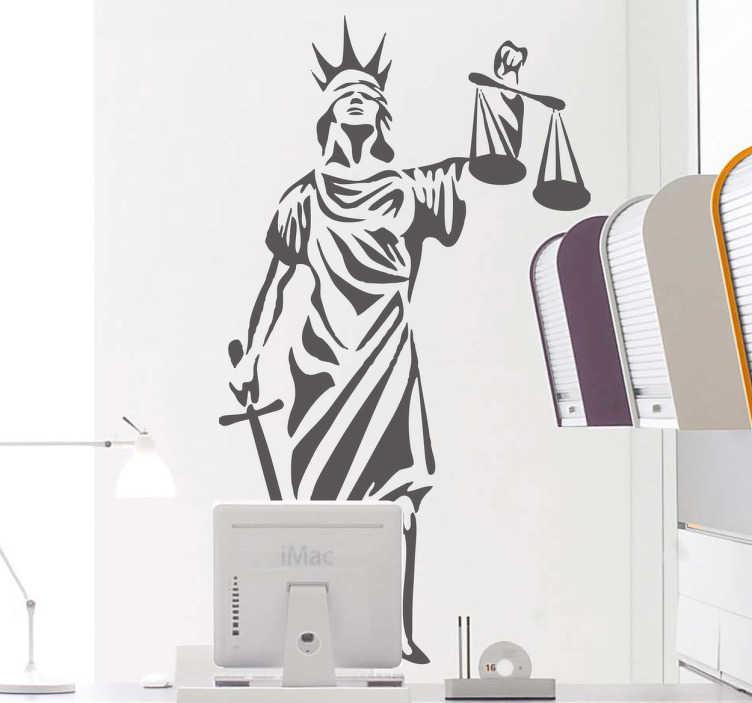Sticker decoratie symbool van gerechtigheid