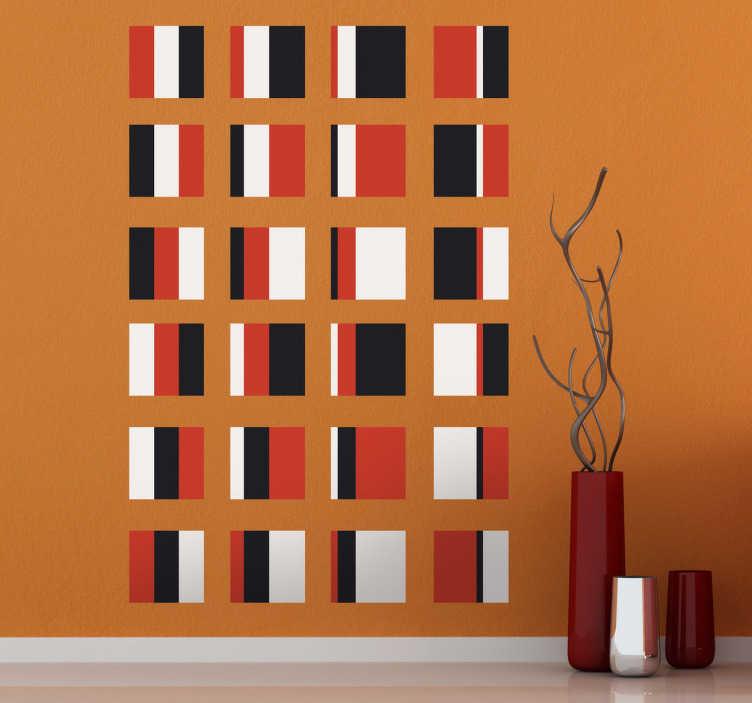 TenStickers. Sticker mural carrés bauhaus. Décorez votre intérieur avec cette suite de formes géométriques en choisissant ce stickers mural inspiré de l'institut des art décoratifs en Allemagne.Personnalisez et adaptez le stickers à votre surface en sélectionnant les dimensions de votre choix.