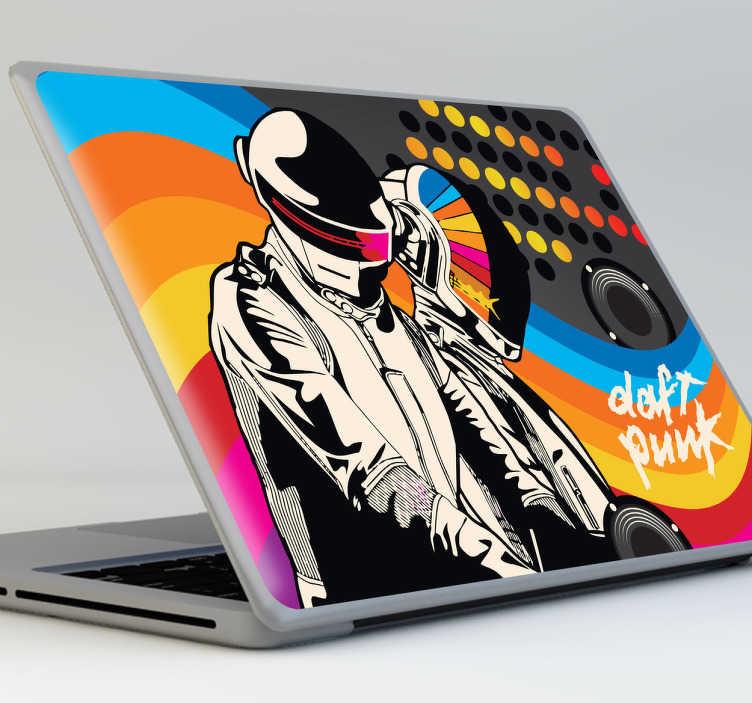 Sticker Daft Punk PC portable