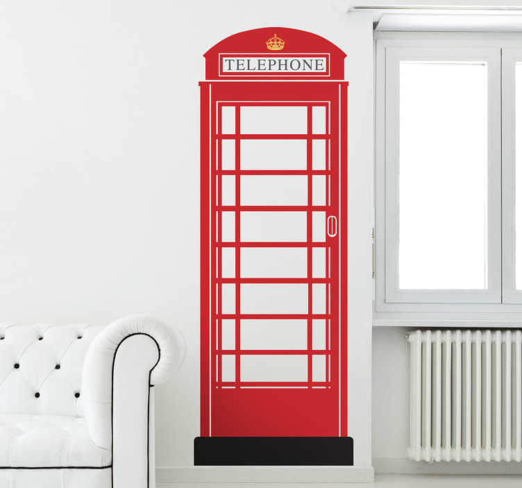 TenStickers. London's Red Phone Box Wall Sticker. Red telephone box wall sticker to personalize the walls of your living room, bedroom and more! Use this simple wall decal to show off your love of England and English culture with this Great British phone box.