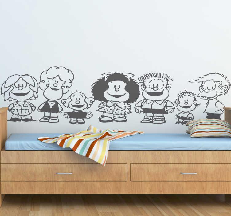 Adesivo bambini personaggi Mafalda