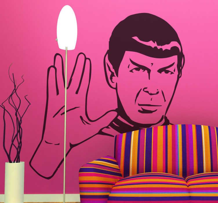 TenStickers. Wandtattoo Star Trek Spock. Dieses Star Trek Wandtattoo zeigt den Kopf der Hauptfigur Spock aus der Hit-Serie Star Trek und ist perfekt für Fans! Riesige Auswahl
