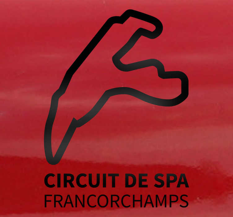 Sticker decorativo circuito di Spa-Francorchamps