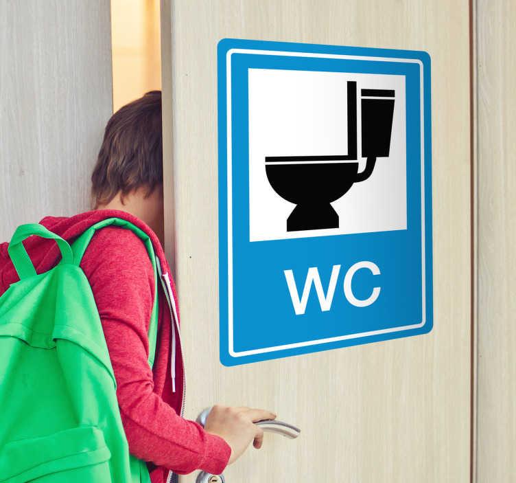 TenStickers. Toilet WC sticker. Toilet WC sticker om aan te duiden waar te wc is! Verschillende formaten zijn beschikbaar bij deze sticker!