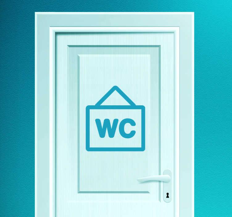 TenStickers. Naklejka dekoracyjna do łazienki WC. Oznacz miejsce, gdzie znajduje się Twoja łazienka za pomocą oryginalnej naklejki WC. Naklejki do biura i naklejki dla firm.