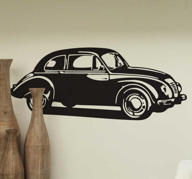 sticker voiture ancienne tenstickers. Black Bedroom Furniture Sets. Home Design Ideas