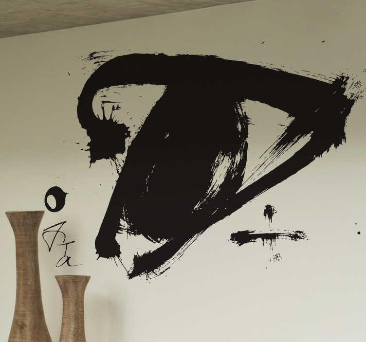 TenStickers. Tàpies Drawing Sticker. If you like the work of this Catalan painter, then you can now decorate your home with this artistic monochrome illustration.