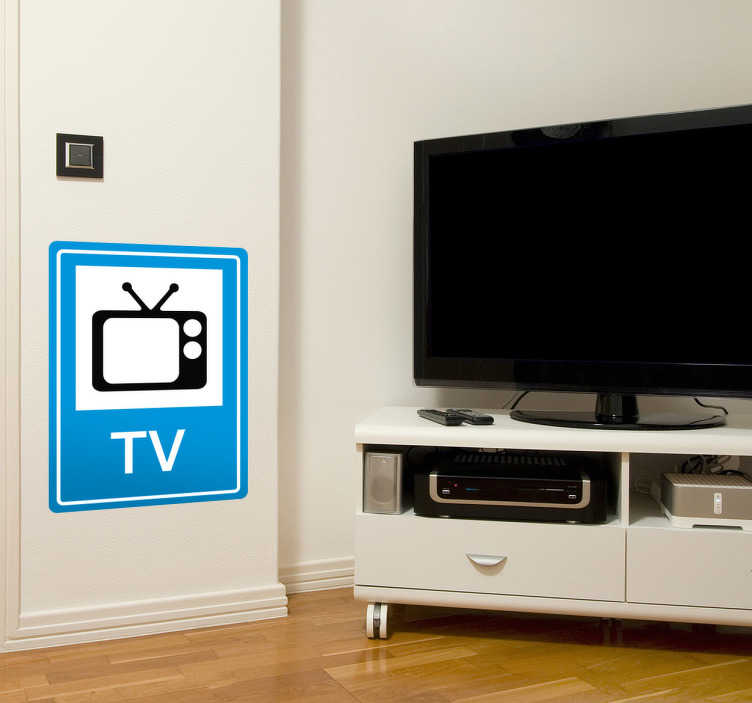 TenStickers. Sign TV Wall Sticker. TV sign showing clear instruction of what a TV looks like wall sticker!