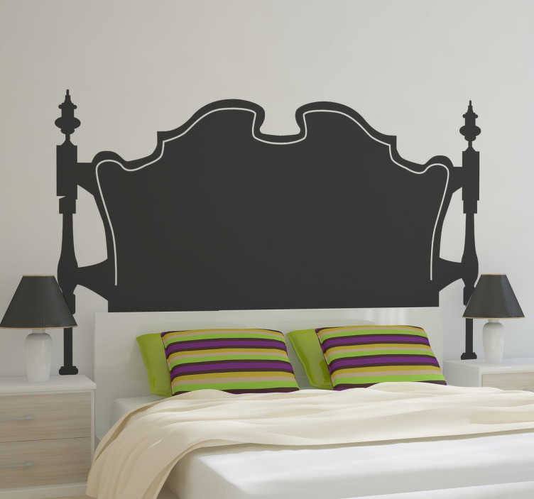 autocollant mural tete de lit baroque tenstickers. Black Bedroom Furniture Sets. Home Design Ideas