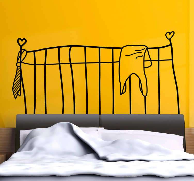 TenStickers. Headboard Drawing Wall Decal. Headboards- Original and distinctive decoration feature above your bed.