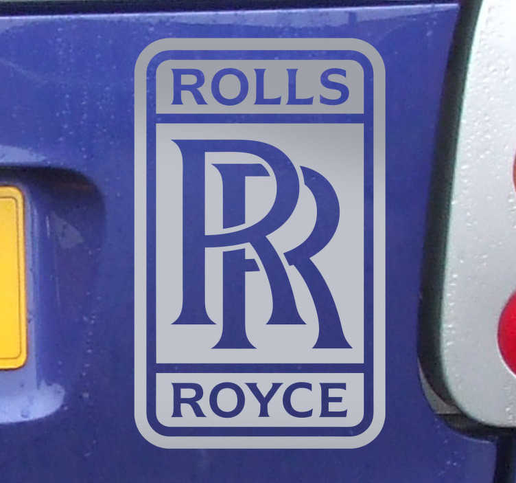 TenStickers. Rolls Royce Logo Sticker. This is the perfect decal for you to give your car a luxurious and expensive touch with this sticker!