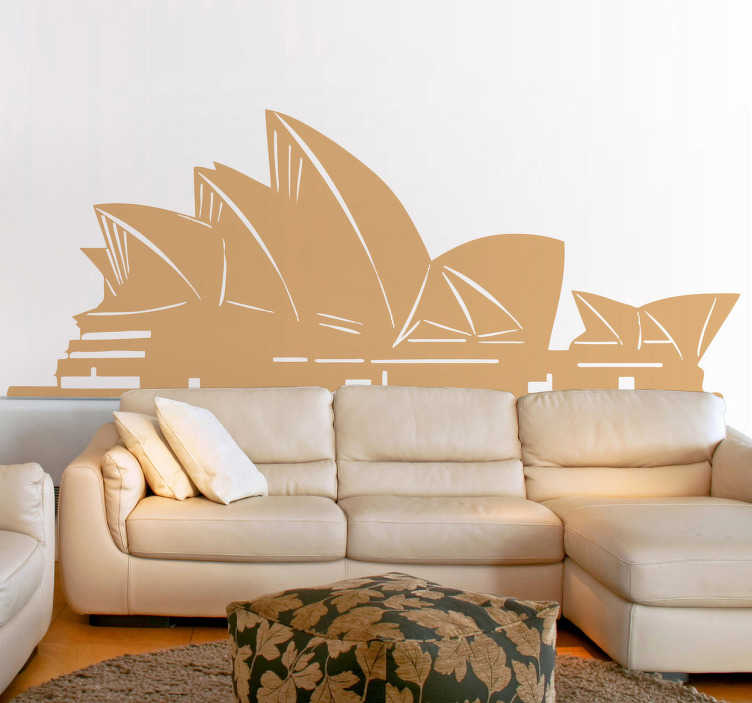 TenStickers. Sydney Opera Silhouette Wall Sticker. Wall Stickers - Located in Australia, an illustartion of the Sydney Opera House. Available in various colours and sizes.