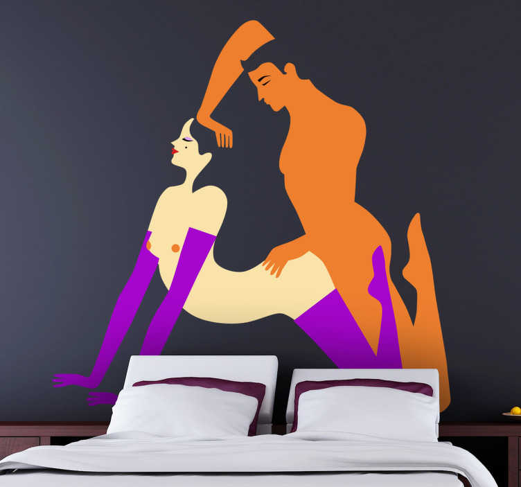 TenStickers. Orgasm Illustration Decorative Sticker. To improve your sex life and make your bedroom more exciting use this original wall sticker.