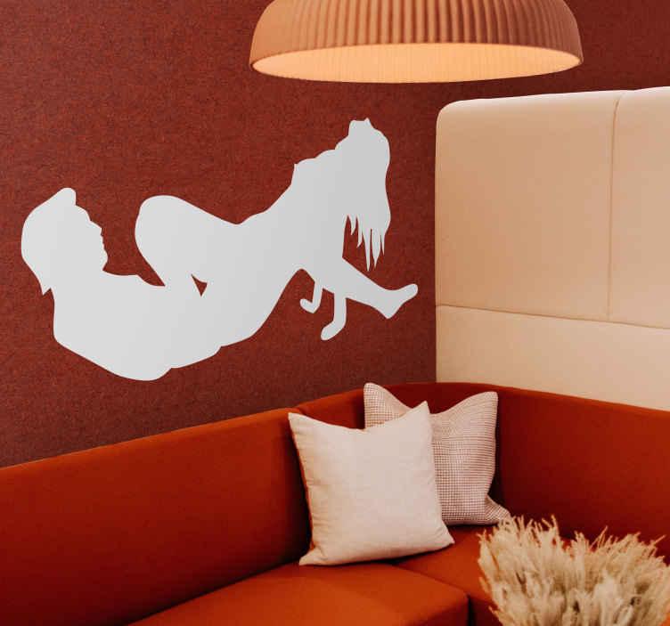 Erotische muursticker als Wanddecoratie - TenStickers