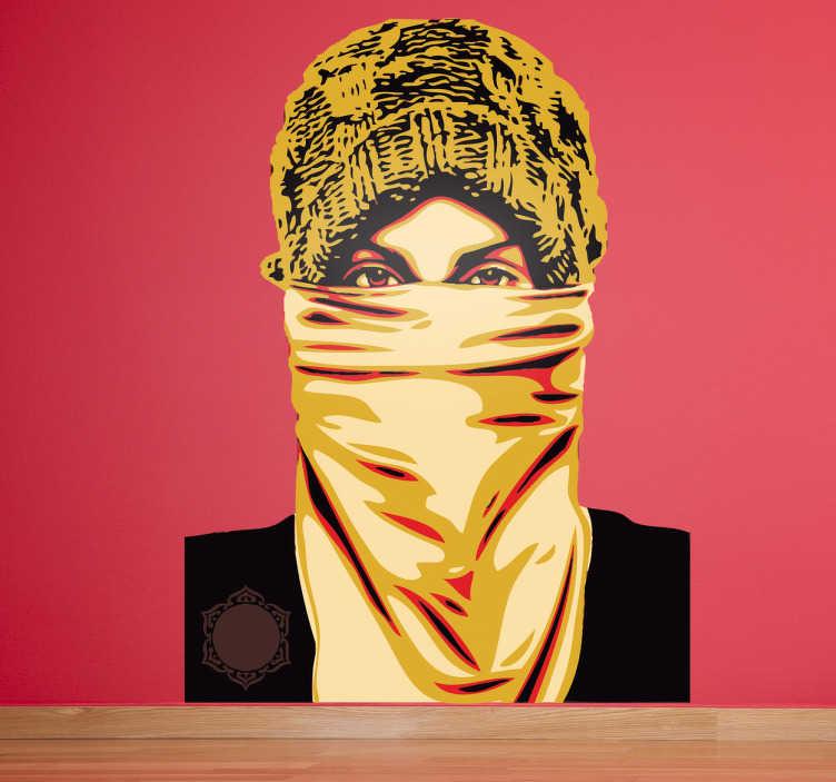 Sticker decorativo attivista araba