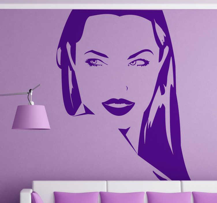 Vinilo decorativo retrato Angelina Jolie